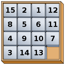 React Game of Fifteen Puzzle Game
